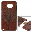 For Galaxy Note 5 Tree Pattern Separable Sapele Wooden Case