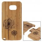 For Galaxy Note 5 Dandelion Pattern Separable Bamboo Wooden Case