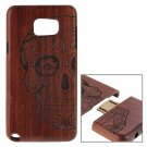 For Galaxy Note 5 Skull Pattern Separable Rosewood Wooden Case