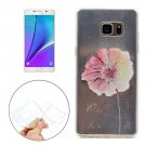 For Galaxy Note 5 Flower Pattern Soft TPU Protective Back Cover Case