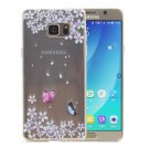 For Galaxy Note 5 Butterfly Pattern Soft TPU Protective Back Cover Case