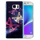For Galaxy Note 5 IMD Butterfly Pattern Blu-ray Soft TPU Protective Case
