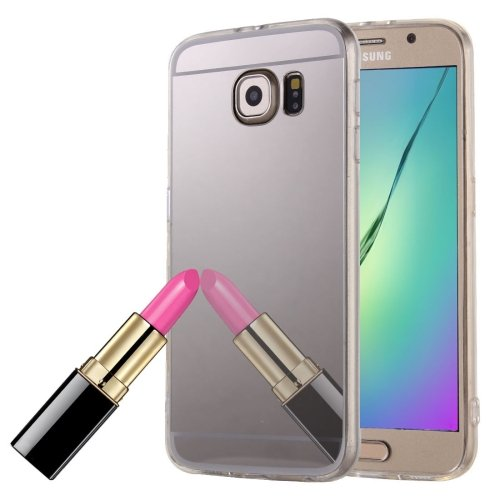 For Galaxy Note 5 Silver Electroplating Mirror TPU Protective Case