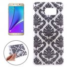 For Galaxy Note 5 Ultrathin Embossed Flowers Pattern TPU Protective Case