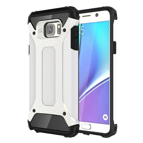 For Galaxy Note 5 White Tough Armor TPU + PC Combination Case