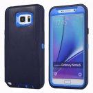 For Galaxy Note 5 Dark blue Hybrid TPU Bumper PC Combination Case
