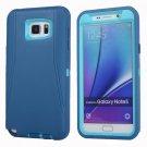 For Galaxy Note 5 Blue Hybrid TPU Bumper PC Combination Case
