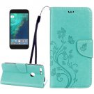 For Google Pixel Green Leather Case with Holder, Card Slots & Wallet