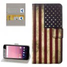 For Google Pixel XL US Flag Pattern Leather Case with Holder, Card Slots & Wallet