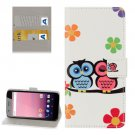 For Google Pixel XL Owl Pattern Leather Case with Holder, Card Slots & Wallet