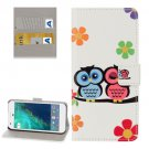For Google Pixel Lovers Owl Pattern Leather Case with Holder, Card Slots & Wallet