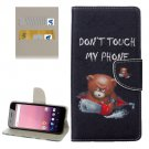 For Google Pixel XL Bear Pattern Leather Case with Holder, Card Slots & Wallet