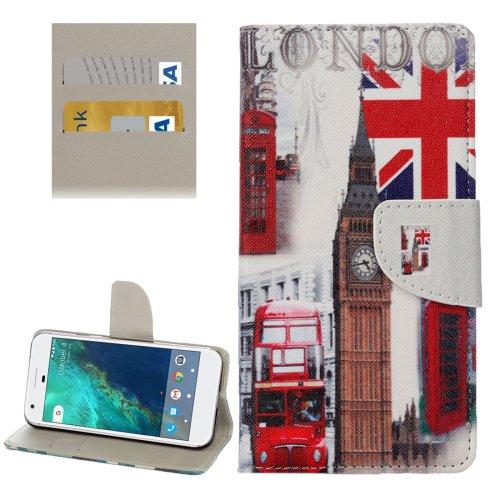 For Google Pixel Big Ben Pattern Leather Case with Holder, Card Slots & Wallet