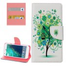 For Google Pixel Tree Pattern Leather Case with Holder, Card Slots & Wallet
