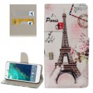 For Google Pixel Eiffel Pattern Leather Case with Holder, Card Slots & Wallet