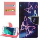 For Google Pixel Butterflies Pattern Leather Case with Holder, Card Slots & Wallet