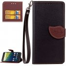 For Nexus 6P Black Litchi Leaf Leather Case with Holder, Card Slots & Wallet