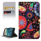 For Nexus 5X Acaleph Pattern Leather Case with Holder, Card Slots & Wallet
