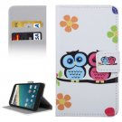 For Nexus 5X Owl Couple Pattern Leather Case with Holder, Card Slots & Wallet