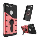 For Google Pixel Red Rotating Tough Armor TPU+PC Case with Holder
