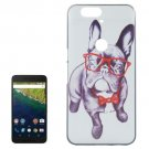 For Google Nexus 6P Dog Pattern PC Protective Case