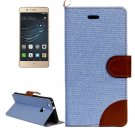 For Huawei P9 Lite Denim Blue Leather Case with Holder & Card Slots