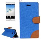 For Huawei P9 Denim Dark Blue Leather Case with Holder & Card Slots
