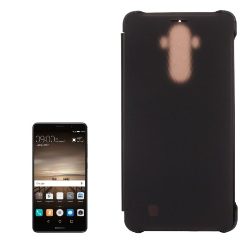 For Huawei Mate 9 Black Smart Cover Translucent + PU Leather Case