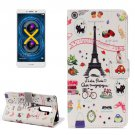 For Honor 6X Symbols Pattern Leather Case with Holder, Card Slots & Wallet