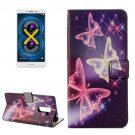 For Honor 6X Butterflies Pattern Leather Case with Holder, Card Slots & Wallet