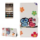 For Huawei Mate 9 Lovers Owl Leather Case with Holder, Card Slots & Wallet