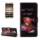 For Huawei Mate 9 Little Bear Leather Case with Holder, Card Slots & Wallet