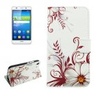 For Huawei Y6 Buds Pattern Leather Case with Holder, Card Slots & Wallet
