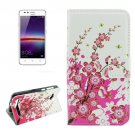 For Huawei Y3 II Blossom Pattern Leather Case with Holder, Card Slots & Wallet
