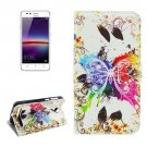 For Huawei Y3 II Crystal Pattern Leather Case with Holder, Card Slots & Wallet