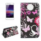 For Huawei Y3 II Butterfly Pattern Leather Case with Holder, Card Slots & Wallet