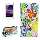 For Huawei Y3 II Fireworks Pattern Leather Case with Holder, Card Slots & Wallet