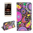 For Huawei Y5 II Hearts Pattern Leather Case with Holder, Card Slots & Wallet