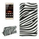 For Huawei Y5 II Zebra Pattern Leather Case with Holder, Card Slots & Wallet