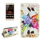 For Huawei Y5 II Crystal Pattern Leather Case with Holder, Card Slots & Wallet