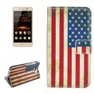 For Huawei Y5 II US Flag Pattern Leather Case with Holder, Card Slots & Wallet
