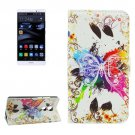 For Huawei Mate 8 Crystal Pattern Leather Case with Holder, Card Slots & Wallet