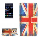 For Huawei Mate 8 UK Flag Pattern Leather Case with Holder, Card Slots & Wallet
