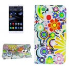 For Huawei Mate 8 Fireworks Pattern Leather Case with Holder, Card Slots & Wallet