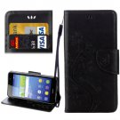 For Huawei Y6 II Black Butterflies Leather Case with Holder, Card Slots & Wallet