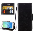 For Huawei NovaI Black Butterflies Leather Case with Holder, Card Slots & Wallet