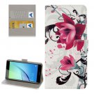 For Huawei NovaI Lotus Pattern Leather Case with Holder, Card Slots & Wallet