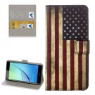 For Huawei NovaI US Flag Pattern Leather Case with Holder, Card Slots & Wallet