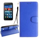 For Huawei Y5 Blue Litchi Leather Case with Holder, Card Slots & Wallet