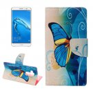 For nova plus Butterfly Pattern Leather Case with Holder, Card Slots & Wallet